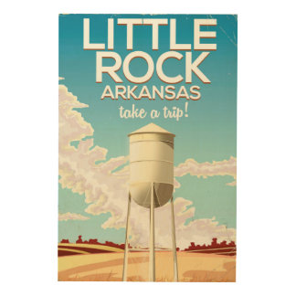 Little Rock Arkansas travel poster