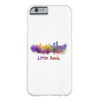 Little Rock skyline in watercolor Barely There iPhone 6 Case