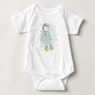 Little Rocket Man Cute Baby Boy Bodysuit