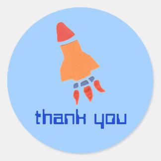 Little rocket thank you sticker