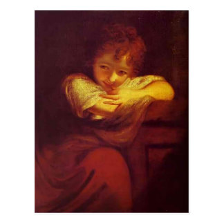 Little Rogue (Robinetta) by Joshua Reynolds Postcard
