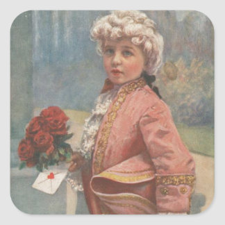 """Little Romeo """"To My Valentines"""" Square Stickers"""