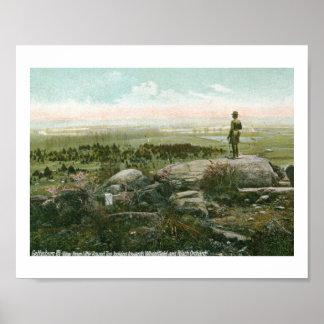 Little Round Top, Gettysburg Battlefield Vintage Poster