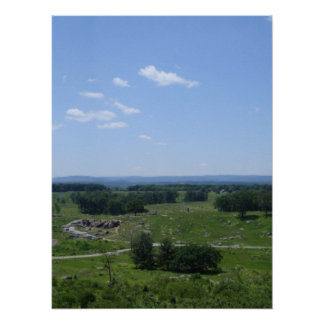 Little Round Top Panorama 2 Poster