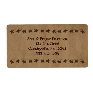 Little Rusty Stars Business Label Shipping Label
