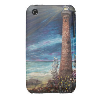 Little Sable Light Michigan lighthouse painting Case-Mate iPhone 3 Cases
