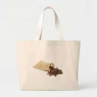 Little sackcloth with coffee beans large tote bag