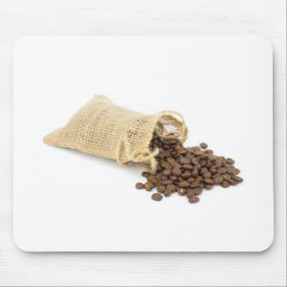 Little sackcloth with coffee beans mouse pad
