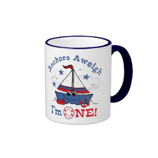 Little Sailboat 1st Birthday Mugs