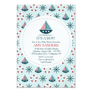 Little Sailboats Invitation