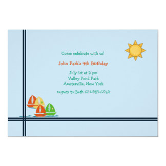 Little Sailboats Invitations