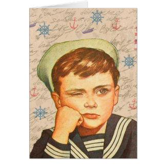 Little sailor card