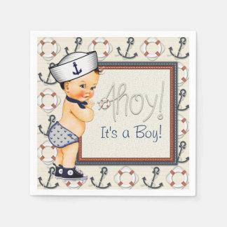 Little Sailor Nautical Baby Shower Disposable Serviette