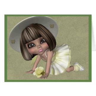 Little Sally big blank greeting card