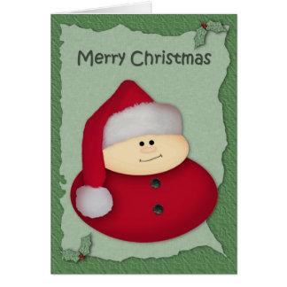 Little Santa Christmas Card