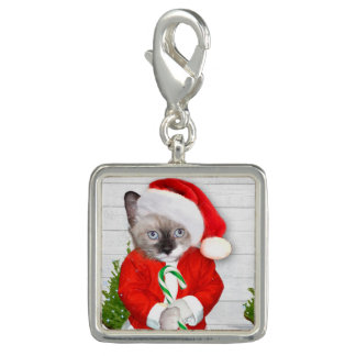 Little Santa Kitten Charm