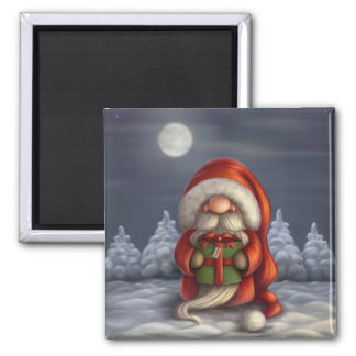 Little Santa with a gift Magnet