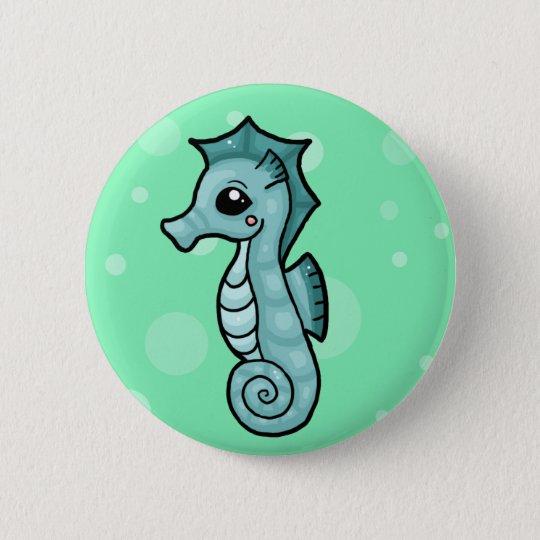 Little seahorse 6 cm round badge