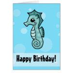 Little Seahorse Birthday card