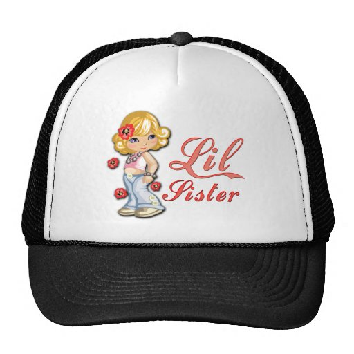 LIttle Sister and Flowers Mesh Hats