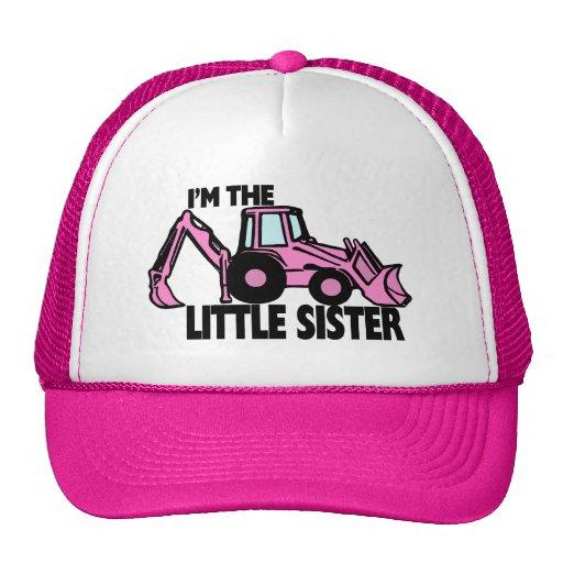 Little Sister Backhoe Trucker Hats