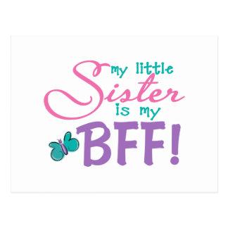 Little Sister BFF Butterfly Postcard