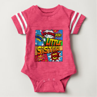 Little Sister Comic Book Baby Bodysuit