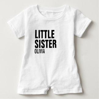 Little Sister Custom Baby Romper Baby Bodysuit