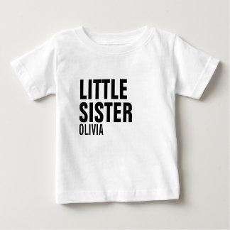Little Sister Custom Baby T-Shirt