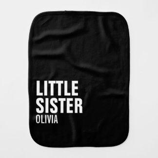 Little Sister Custom Burp Cloth