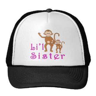 Little Sister Cute Monkeys 2 Cap