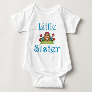 Little Sister Fluffy Pup 5 Baby Bodysuit