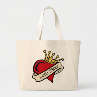 Little Sister Heart Tattoo Large Tote Bag