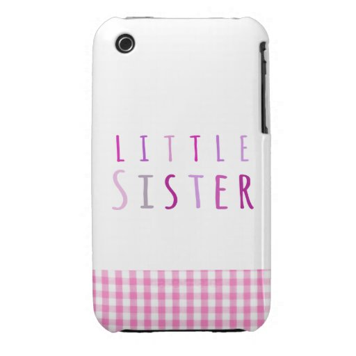 Little sister in pink iPhone 3 Case-Mate case