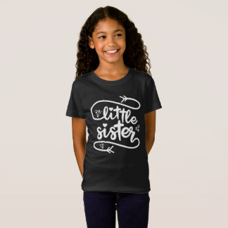 Little Sister paw Script white T-Shirt