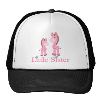 Little Sister Pink and Brown Giraffes Hats
