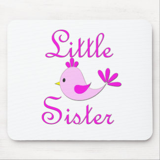 Little Sister Pink Bird Mouse Pads