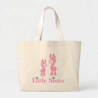 Little Sister Pink Giraffes Jumbo Tote Bag