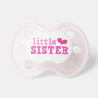 Little sister pink text with cute heart custom dummy