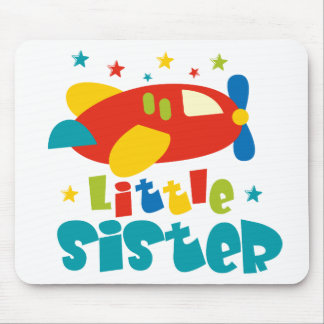 Little Sister Plane Mouse Pads