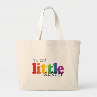Little Sister - rainbow flowers Jumbo Tote Bag
