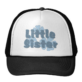 Little Sister Retro Flowers Blue Cap
