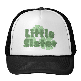 Little Sister Retro Flowers Green Cap