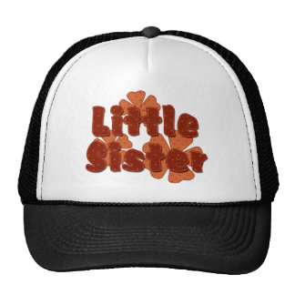 Little Sister Retro Flowers Orange Cap