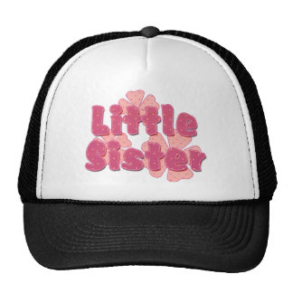 Little Sister Retro Flowers Pink 2 Cap