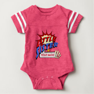 Little Sister Superhero Baby Bodysuit