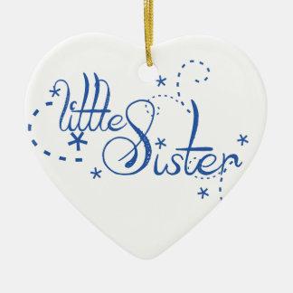Little Sister Swirls Christmas Ornament