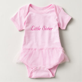 Little Sister Tulle One Piece Baby Bodysuit