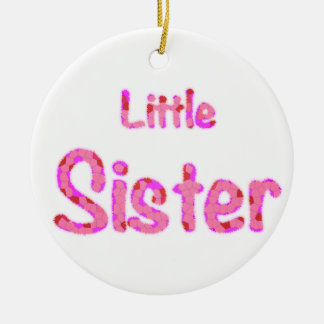 Little Sister Typography Round Ceramic Decoration