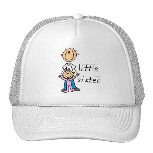 Little Sister with Big Brother T-shirts and Gifts Trucker Hats